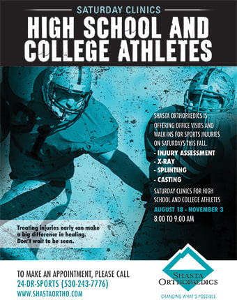 Clinics For Athlete Sports Injuries In Redding California