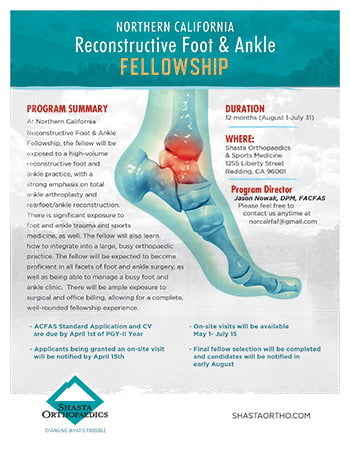 Northern California Reconstructive Foot & Ankle Fellowship