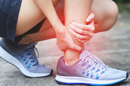 Runner with foot and ankle pain