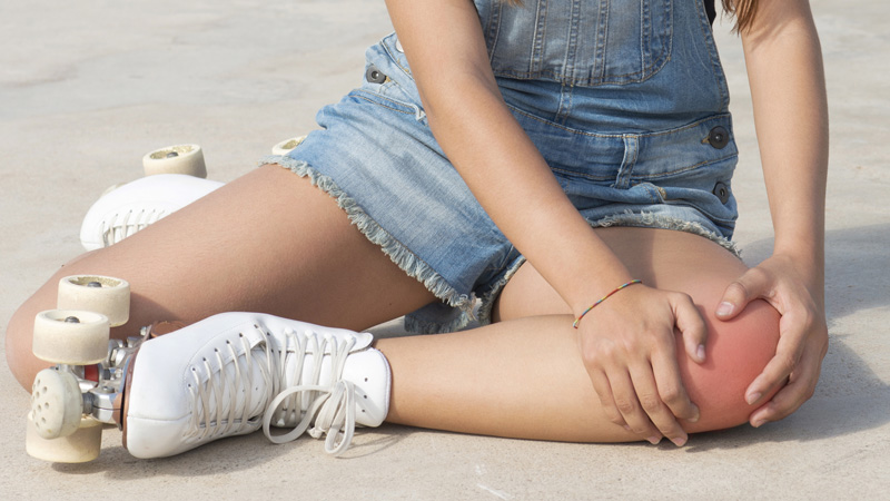 Strain or Sprain of the Knee Muscles or Ligaments